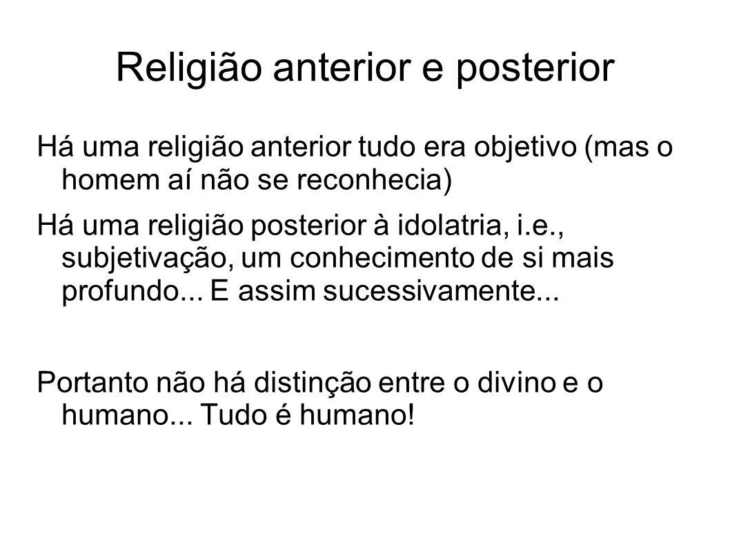 Religião anterior e posterior