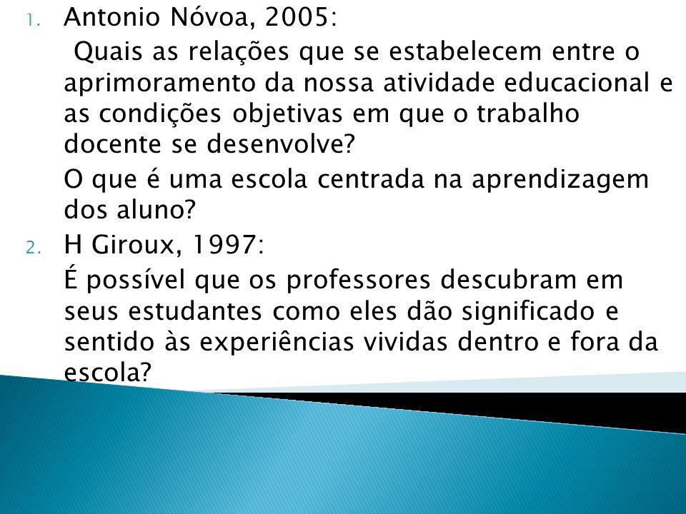 H Giroux, 1997: Antonio Nóvoa, 2005: