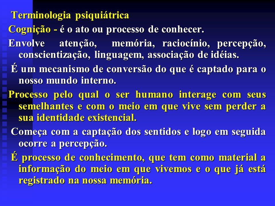Terminologia psiquiátrica