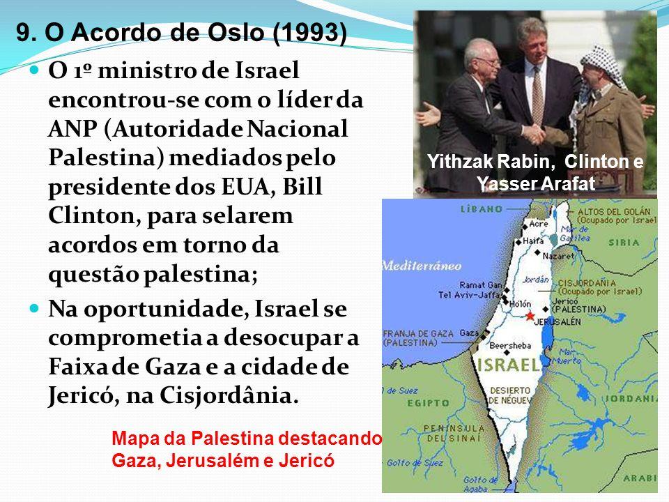 Yithzak Rabin, Clinton e Yasser Arafat