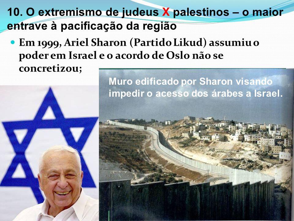 10. O extremismo de judeus X palestinos – o maior entrave à pacificação da região