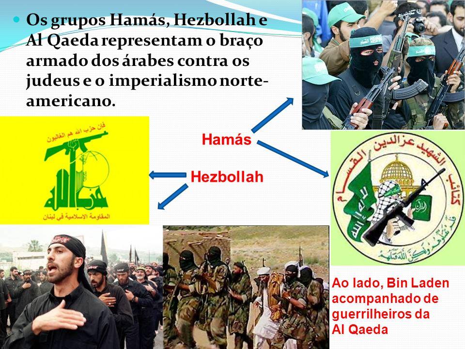 Os grupos Hamás, Hezbollah e Al Qaeda representam o braço armado dos árabes contra os judeus e o imperialismo norte-americano.
