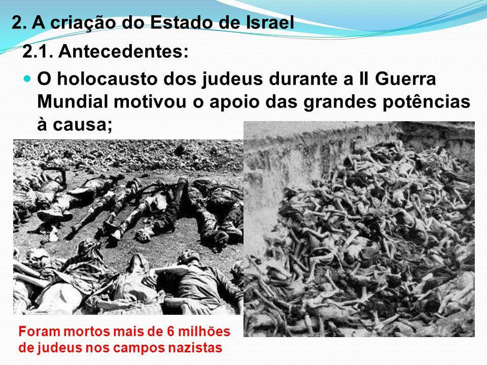 2. A criação do Estado de Israel