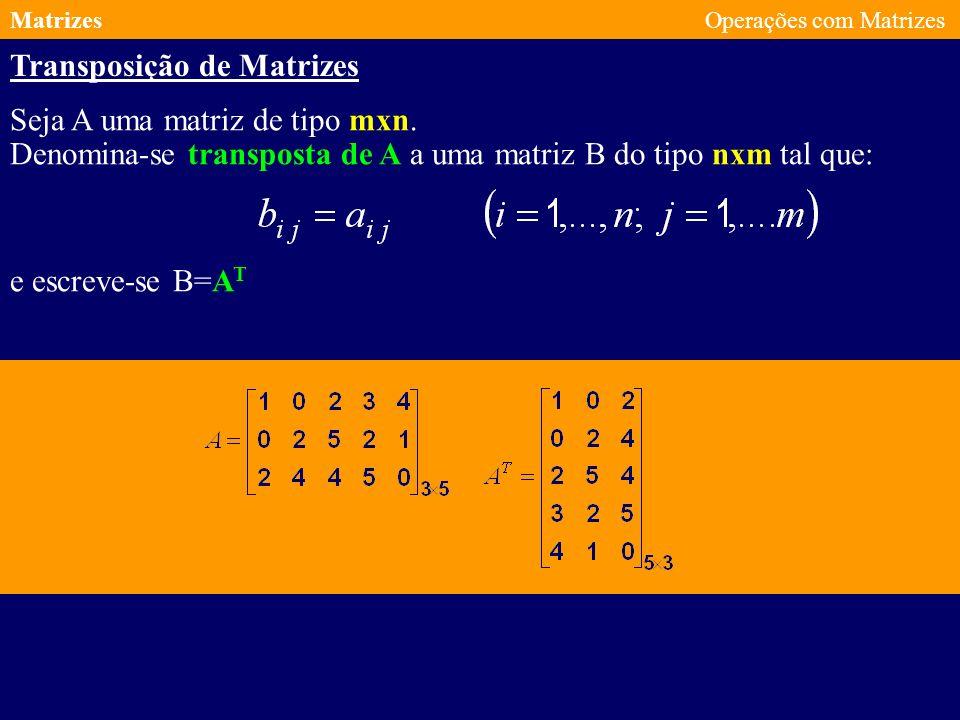 Transposição de Matrizes