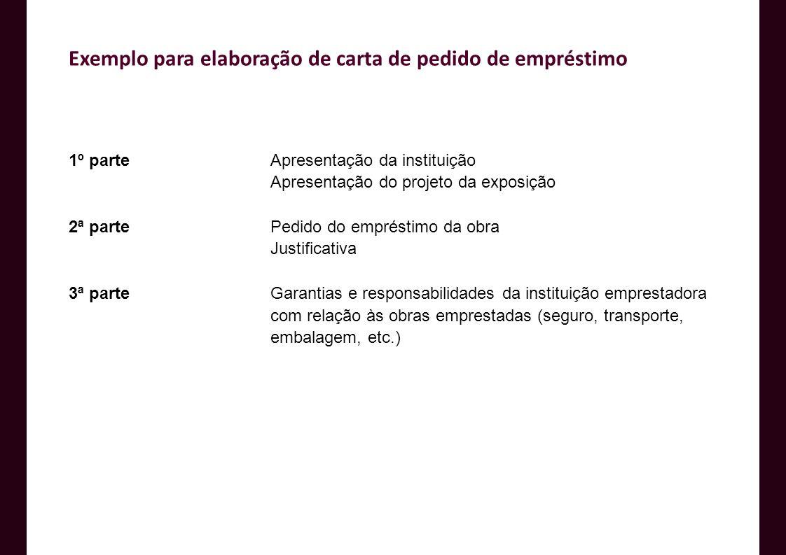 Exemplo para elaboração de carta de pedido de empréstimo