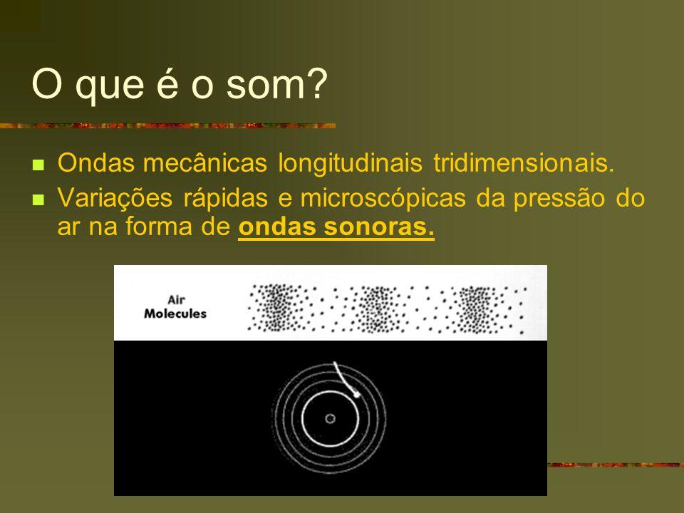 O que é o som Ondas mecânicas longitudinais tridimensionais.