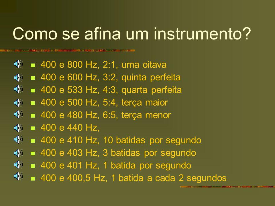Como se afina um instrumento