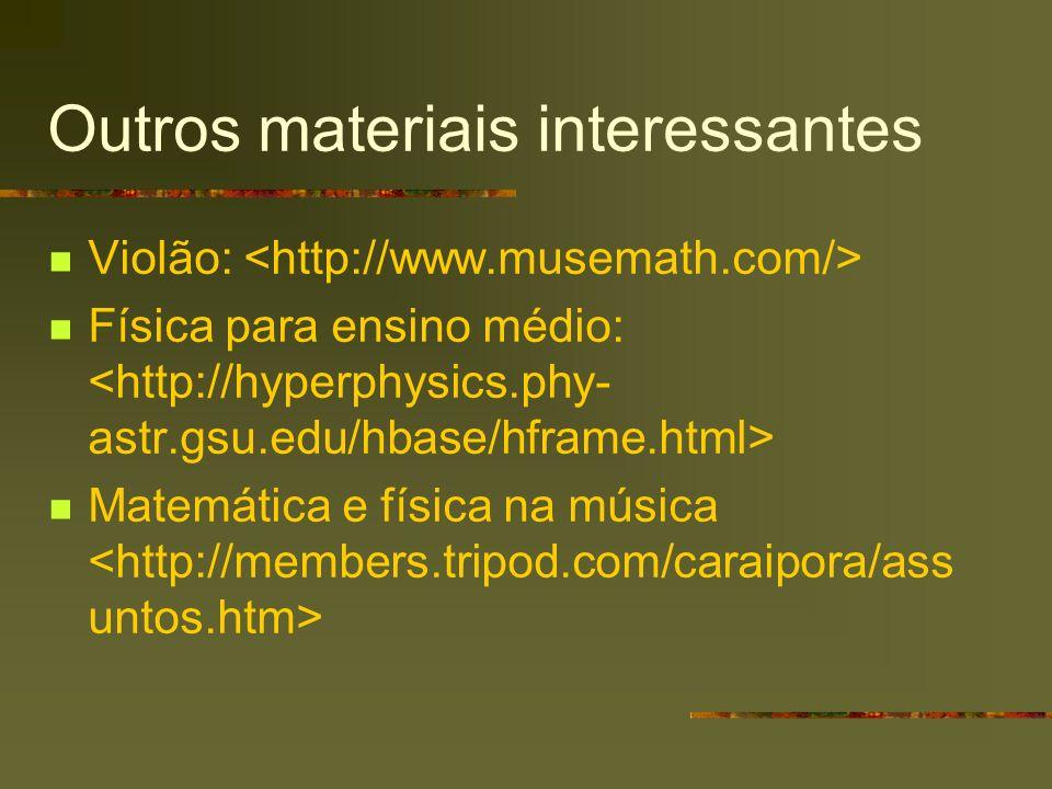 Outros materiais interessantes