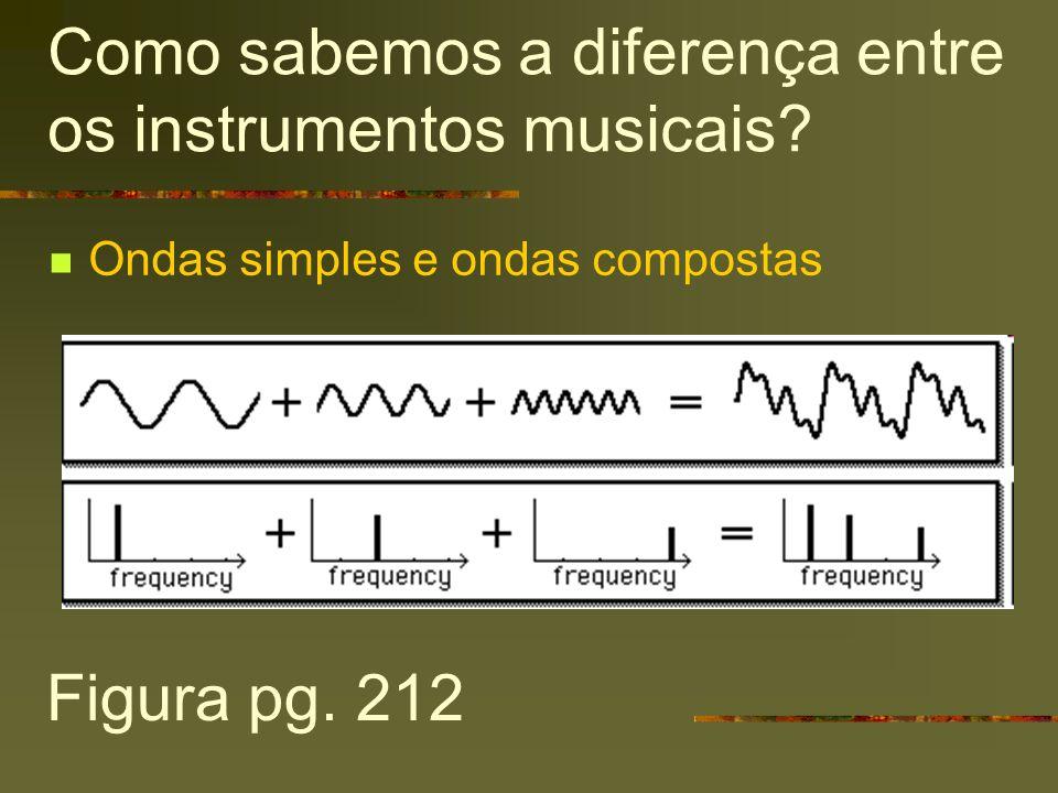 Como sabemos a diferença entre os instrumentos musicais