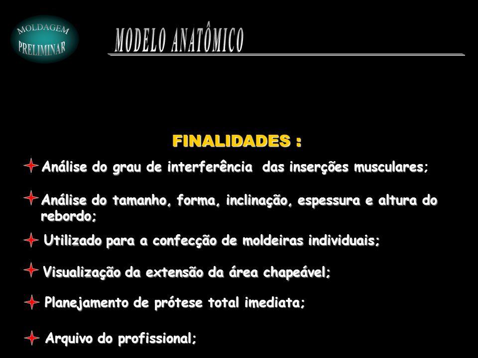 MODELO ANATÔMICO FINALIDADES :