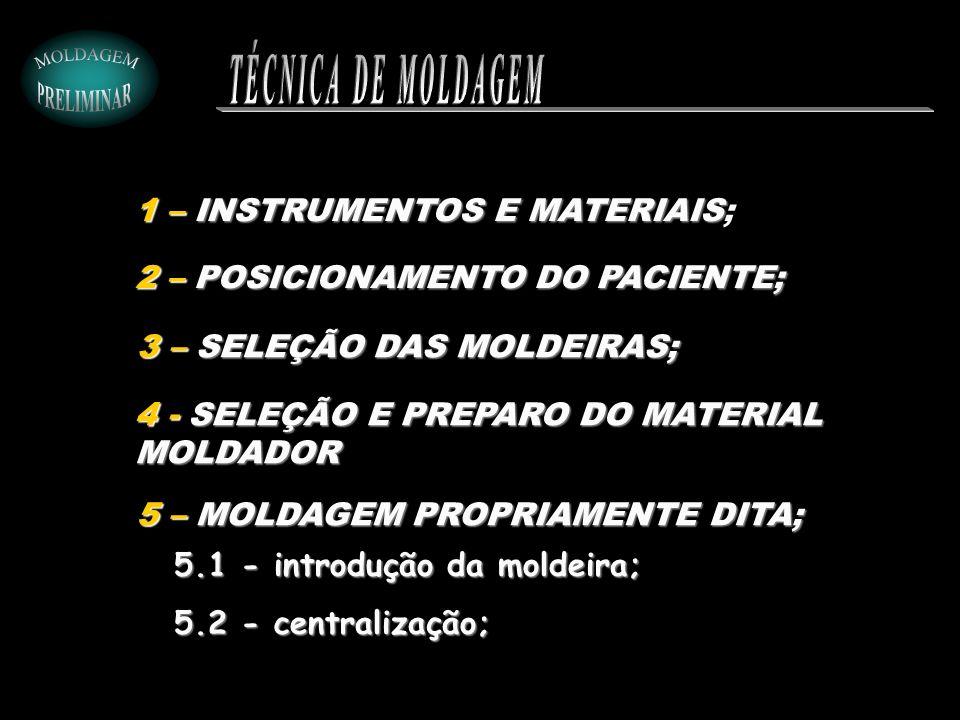 TÉCNICA DE MOLDAGEM 1 – INSTRUMENTOS E MATERIAIS;