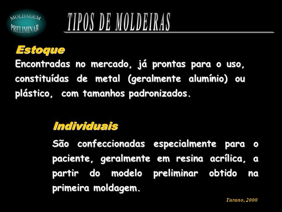 TIPOS DE MOLDEIRAS Estoque Individuais