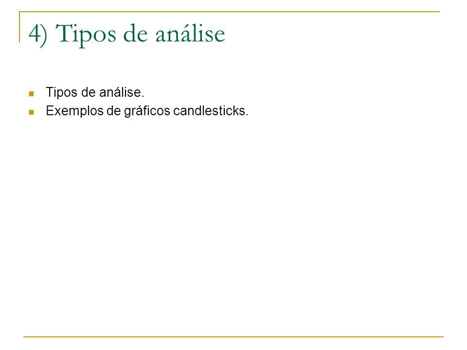 4) Tipos de análise Tipos de análise.