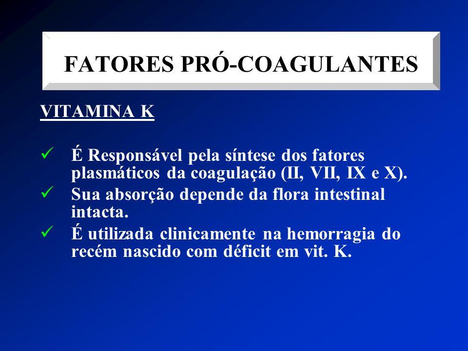 FATORES PRÓ-COAGULANTES