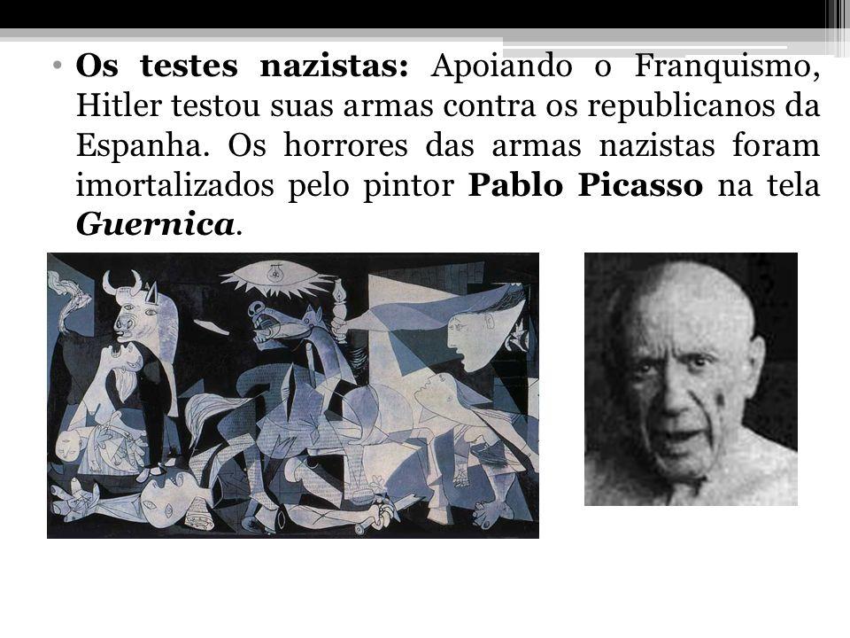 Os testes nazistas: Apoiando o Franquismo, Hitler testou suas armas contra os republicanos da Espanha.