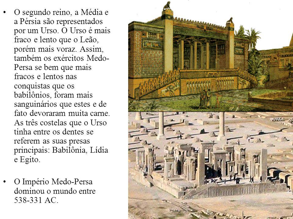 O segundo reino, a Média e a Pérsia são representados por um Urso