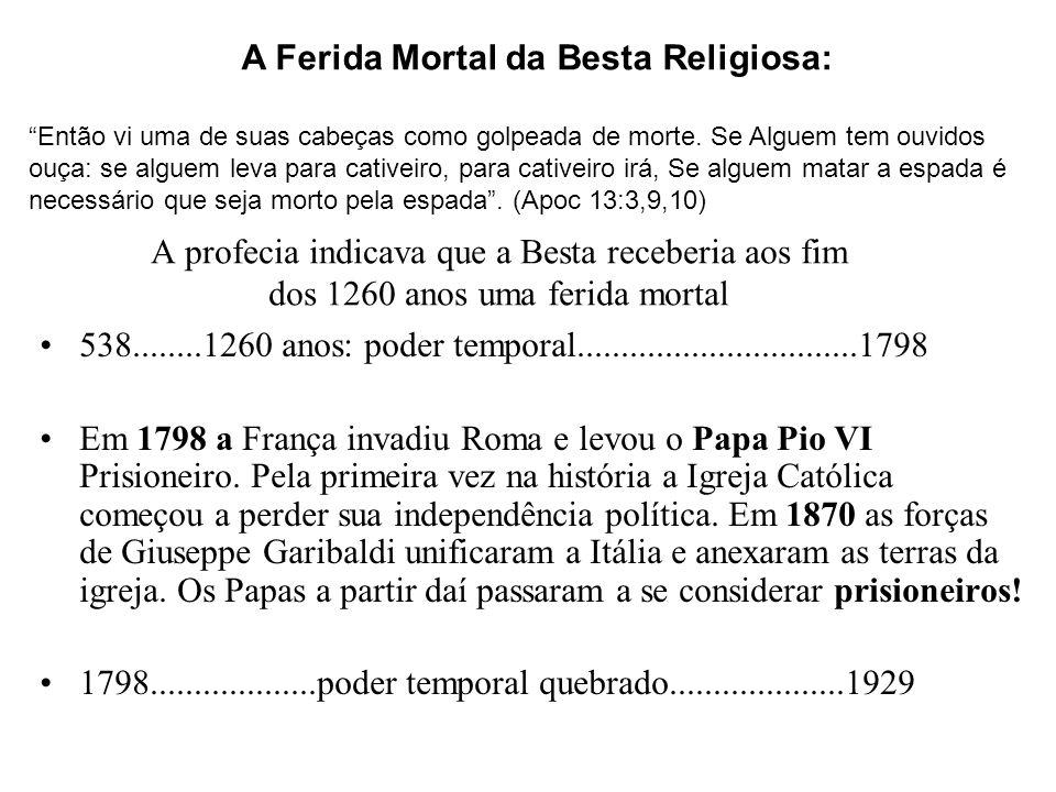 A Ferida Mortal da Besta Religiosa: