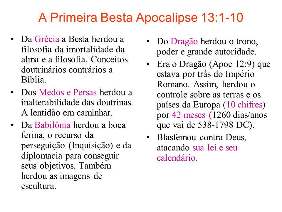 A Primeira Besta Apocalipse 13:1-10