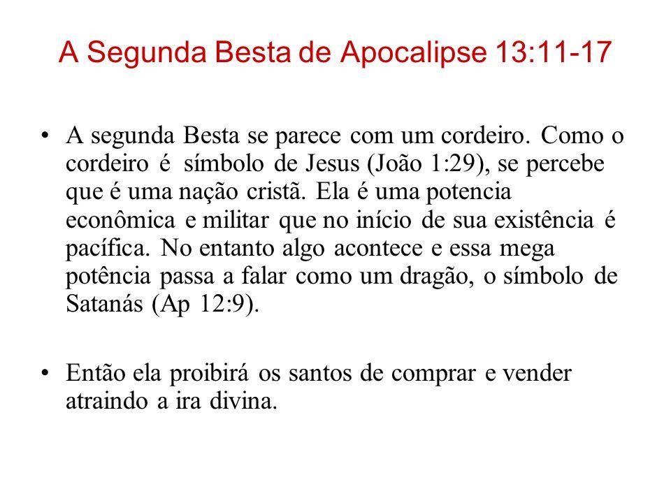 A Segunda Besta de Apocalipse 13:11-17