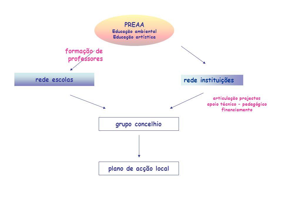 articulação projectos apoio técnico – pedagógico