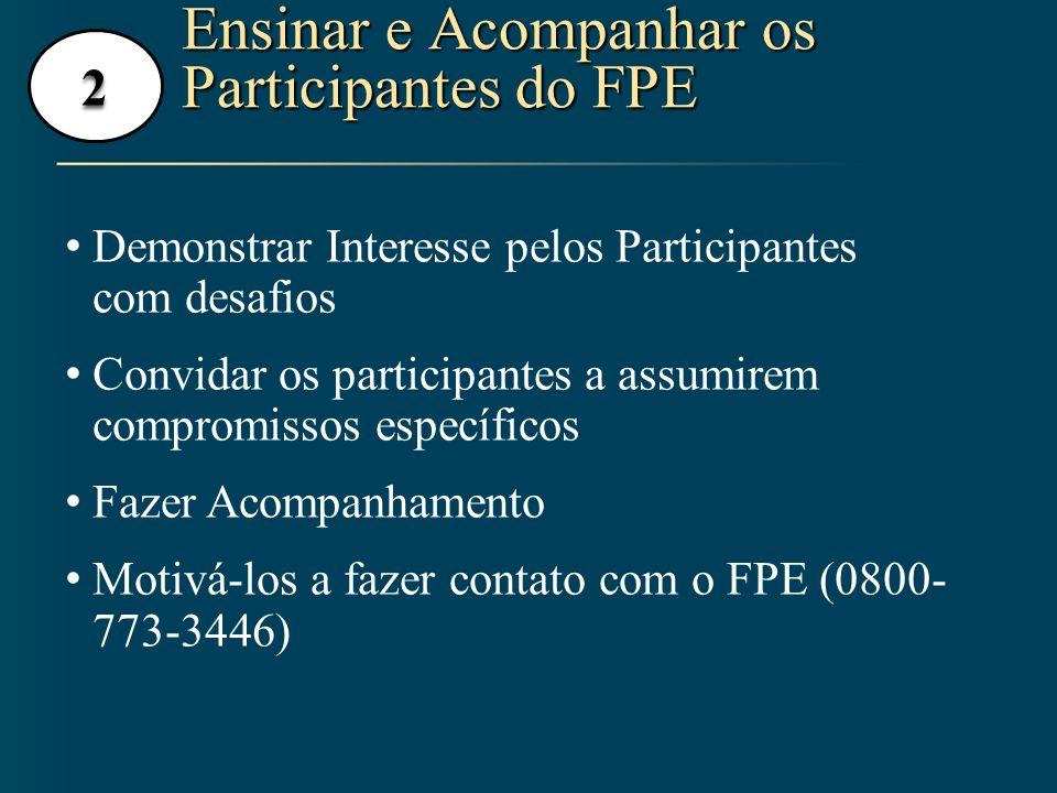 Ensinar e Acompanhar os Participantes do FPE