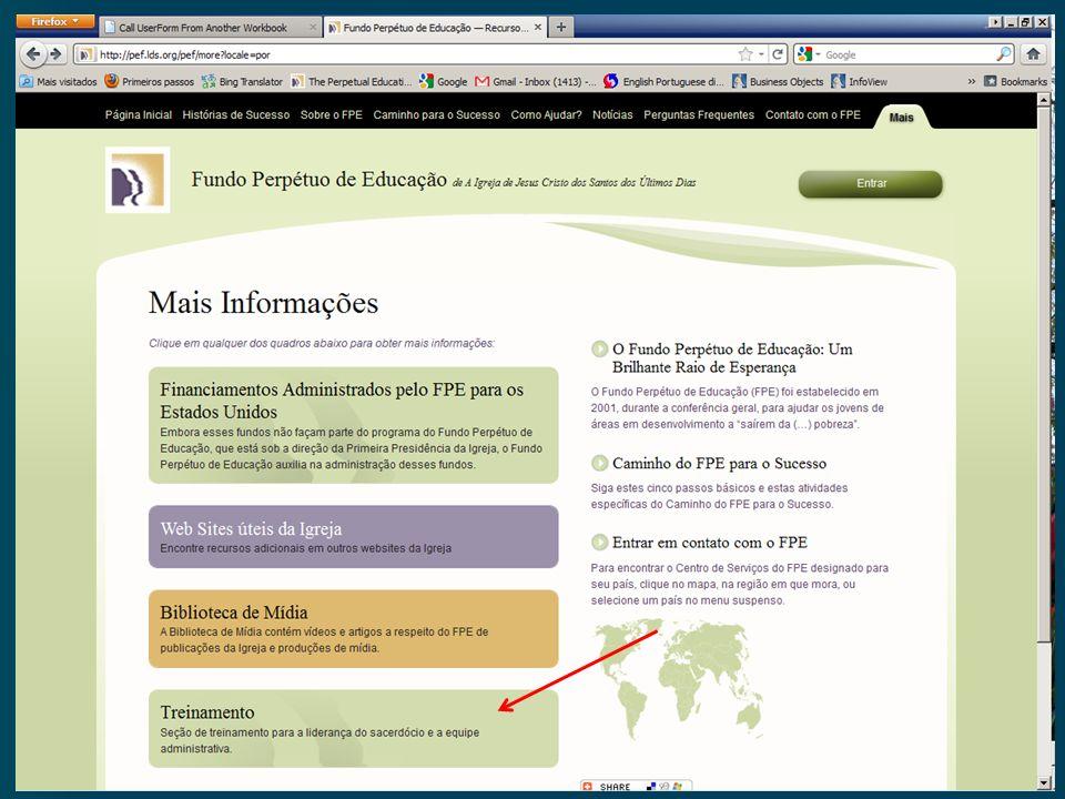 Treinamento Online do FPE