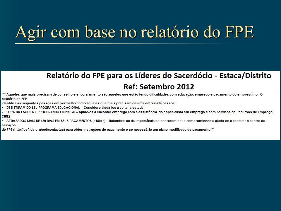 Agir com base no relatório do FPE
