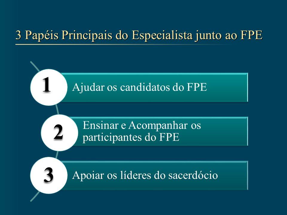 3 Papéis Principais do Especialista junto ao FPE
