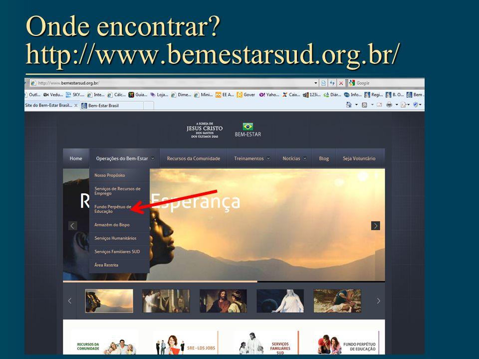 Onde encontrar http://www.bemestarsud.org.br/