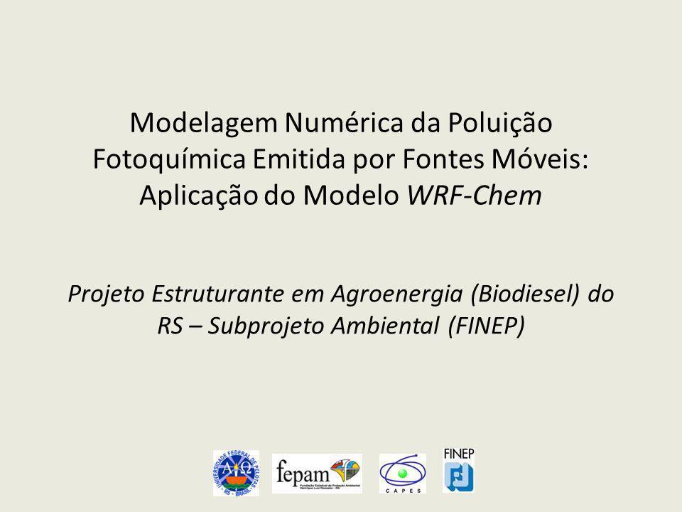 Modelagem Numérica da Poluição Fotoquímica Emitida por Fontes Móveis: Aplicação do Modelo WRF-Chem