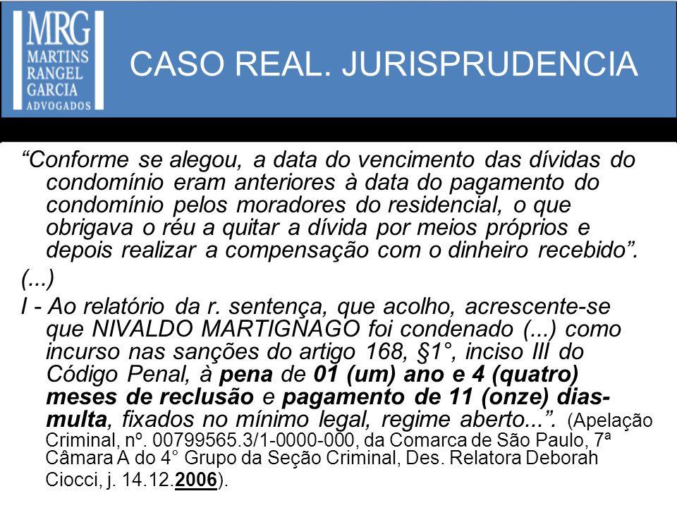 CASO REAL. JURISPRUDENCIA