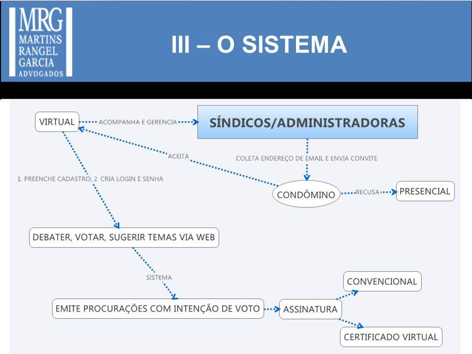 III – O SISTEMA