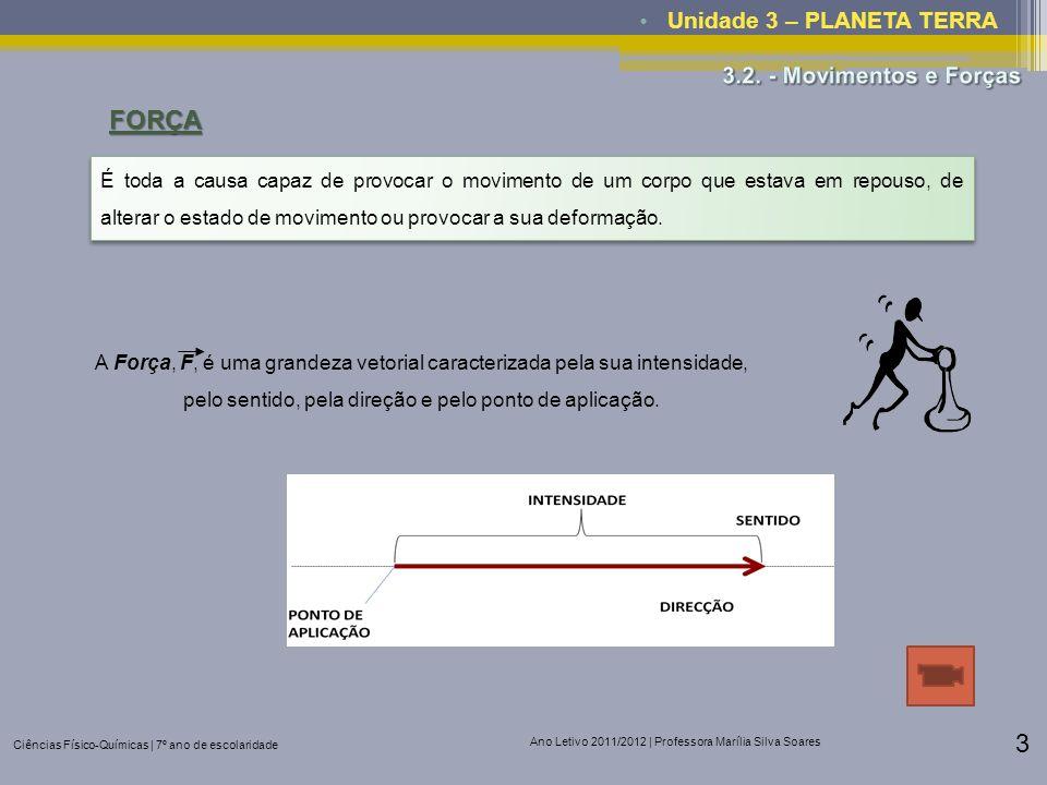 FORÇA Unidade 3 – PLANETA TERRA 3.2. - Movimentos e Forças