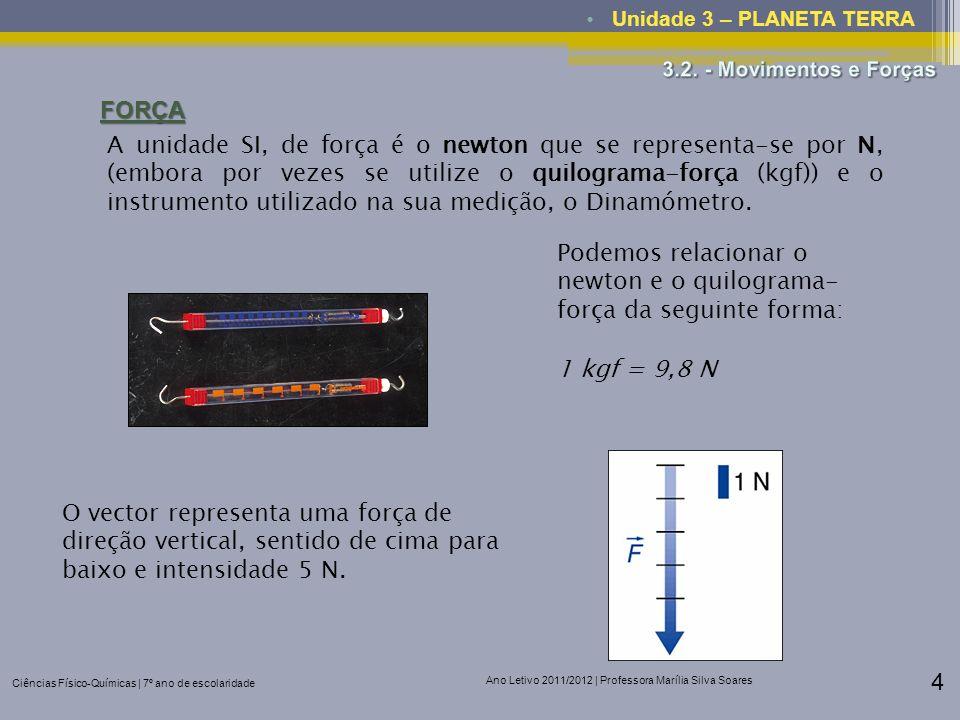 Podemos relacionar o newton e o quilograma-força da seguinte forma: