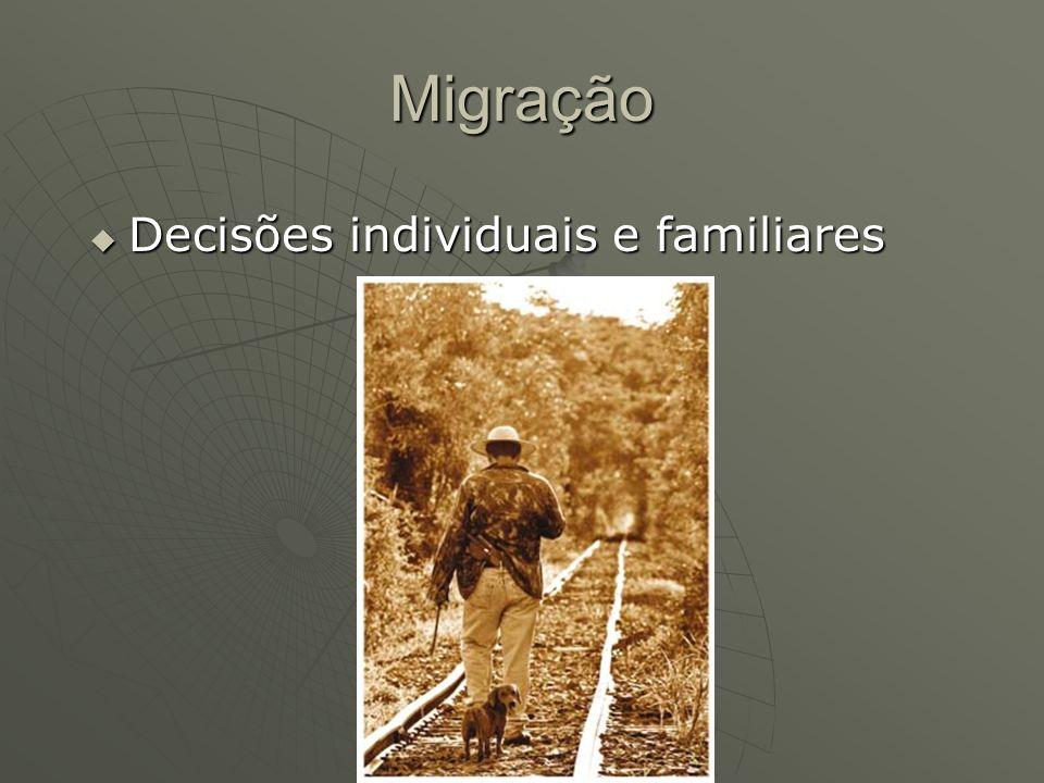 Migração Decisões individuais e familiares