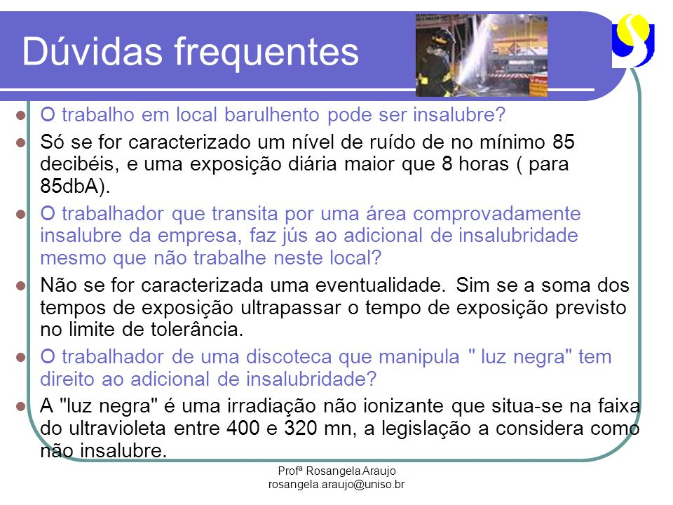 Profª Rosangela Araujo rosangela.araujo@uniso.br