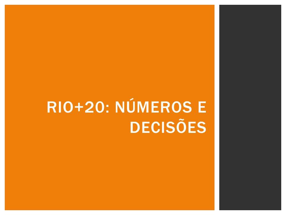 RIO+20: NÚMEROS E DECISÕES