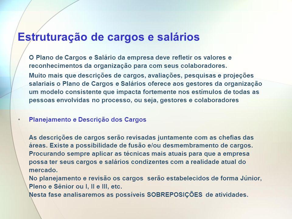 Estruturação de cargos e salários