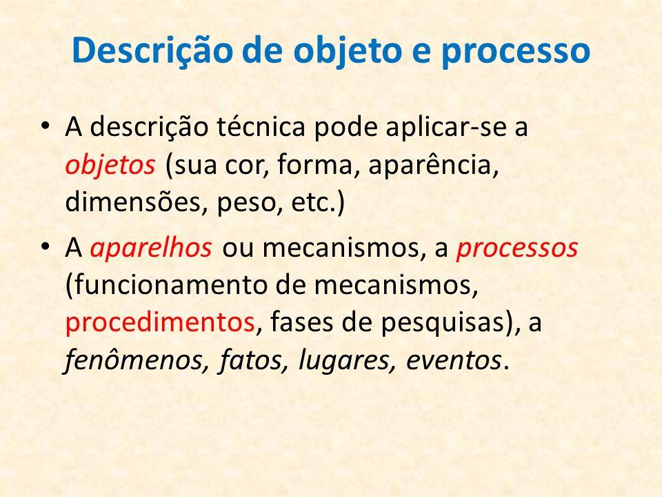 Descrição de objeto e processo