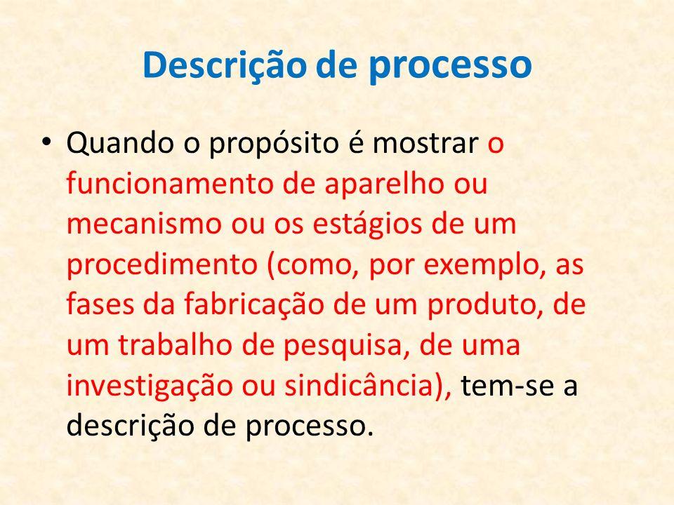 Descrição de processo