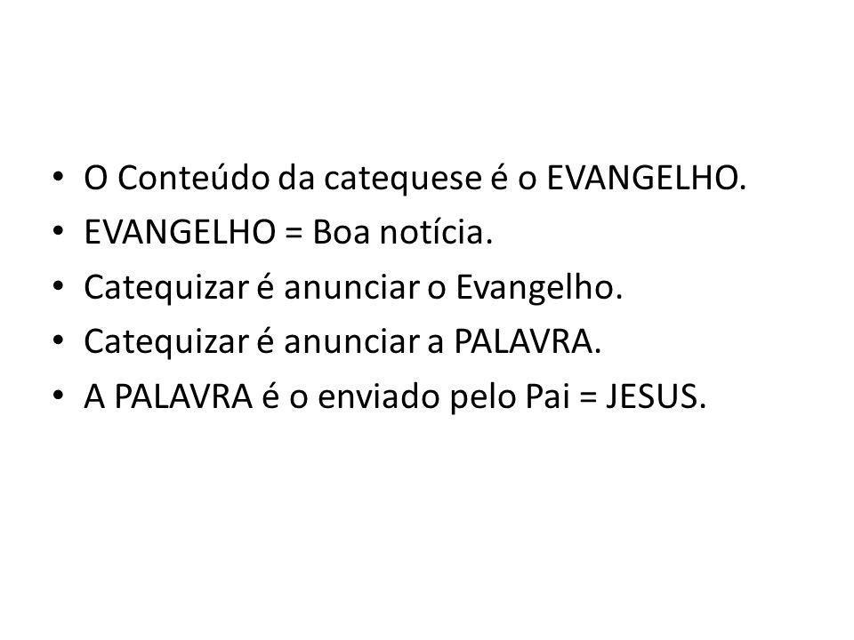 O Conteúdo da catequese é o EVANGELHO.
