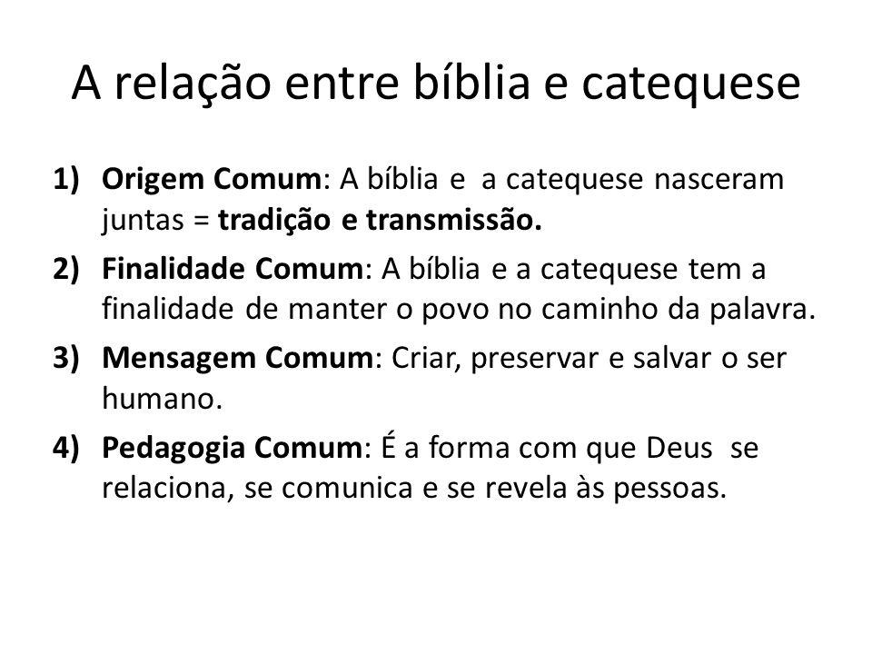 A relação entre bíblia e catequese
