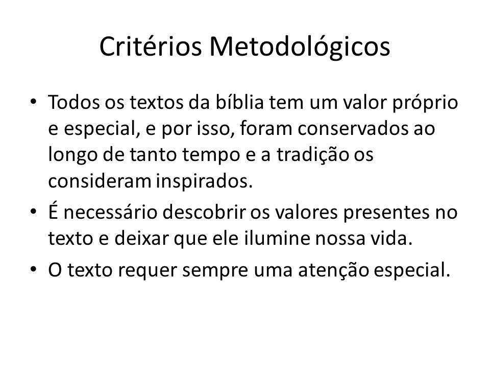 Critérios Metodológicos