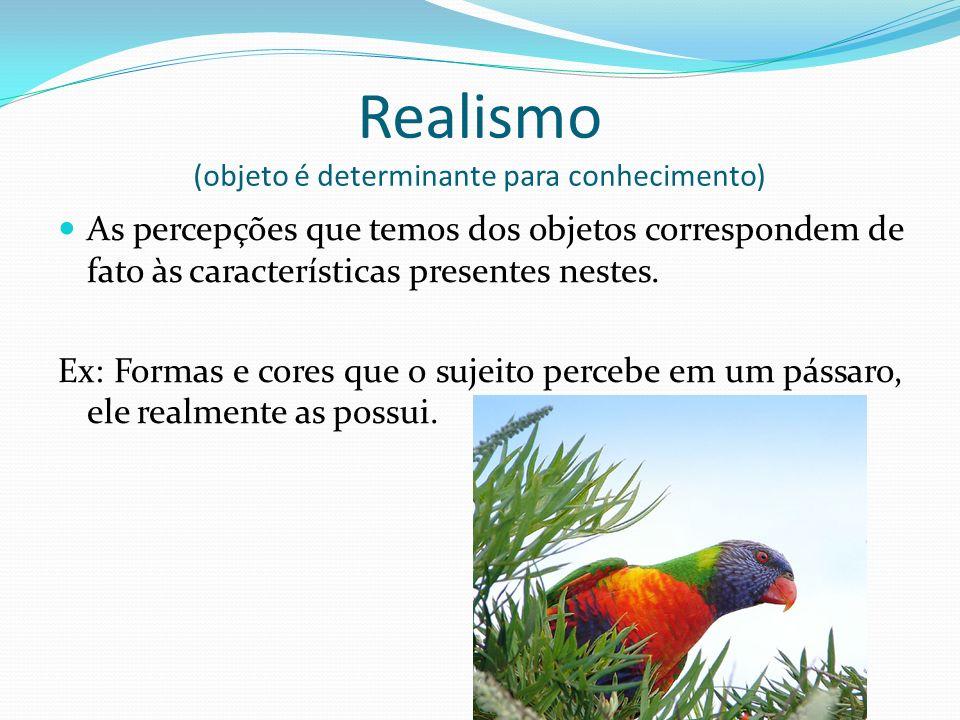 Realismo (objeto é determinante para conhecimento)
