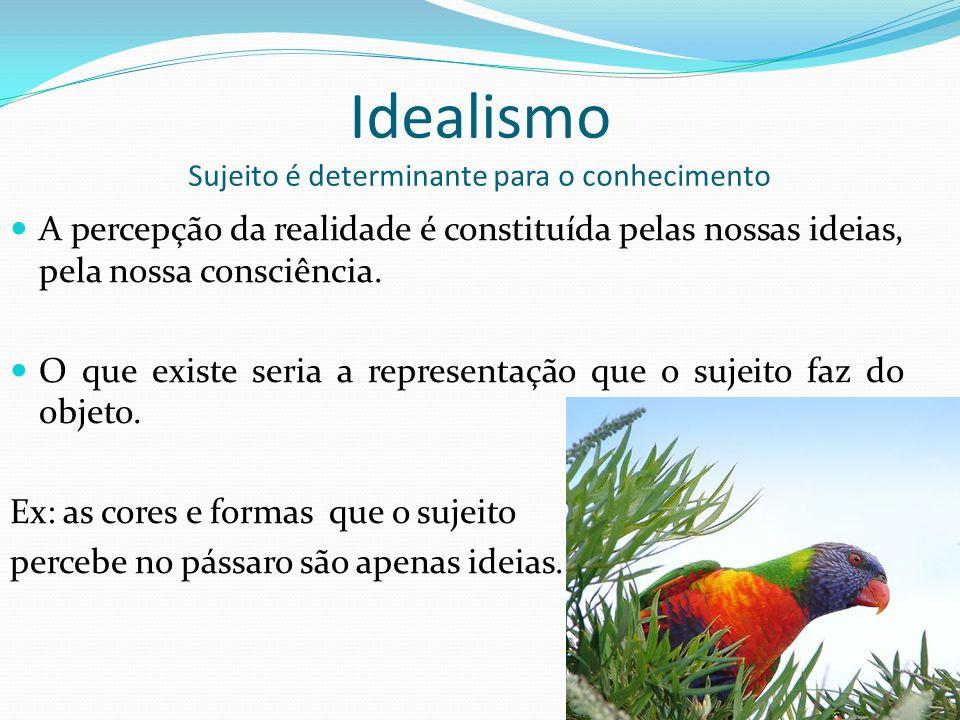 Idealismo Sujeito é determinante para o conhecimento