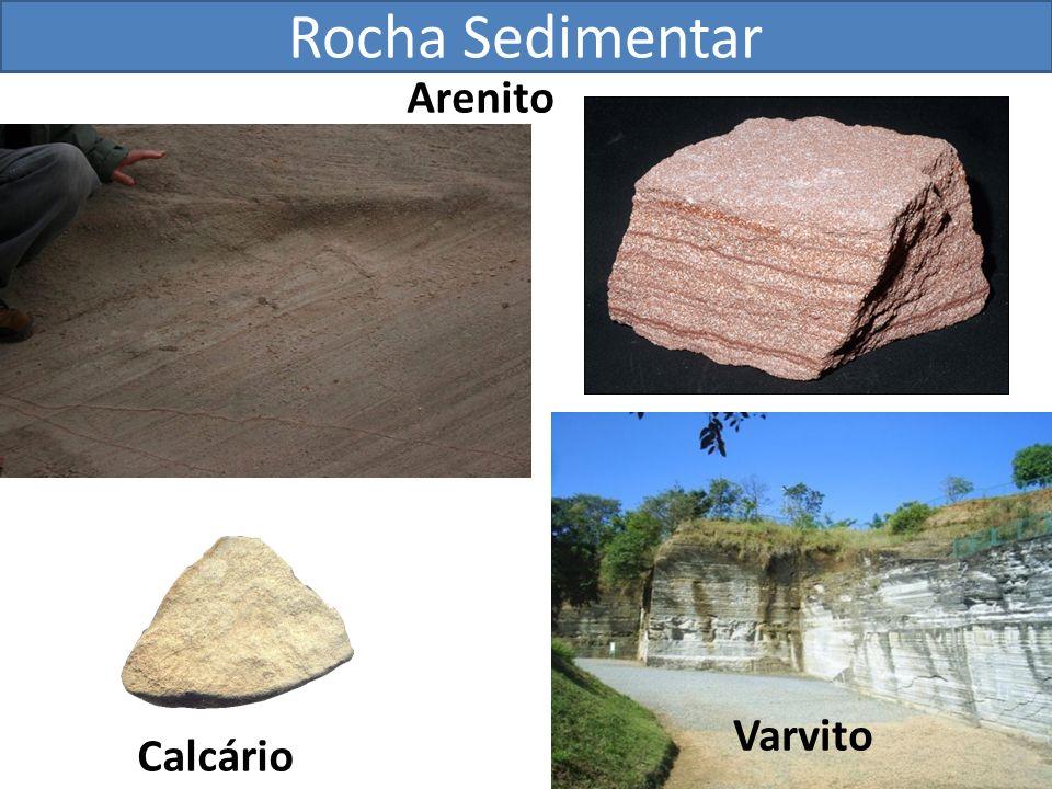 Rocha Sedimentar Arenito Varvito Calcário