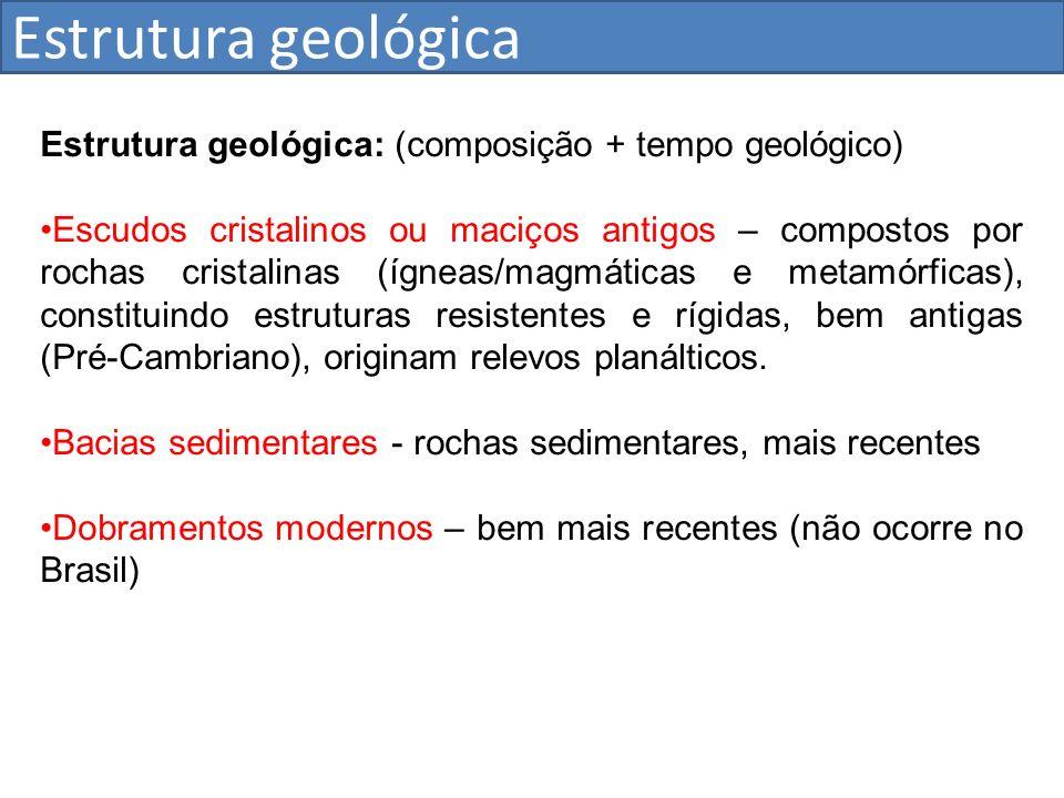 Estrutura geológica Estrutura geológica: (composição + tempo geológico)