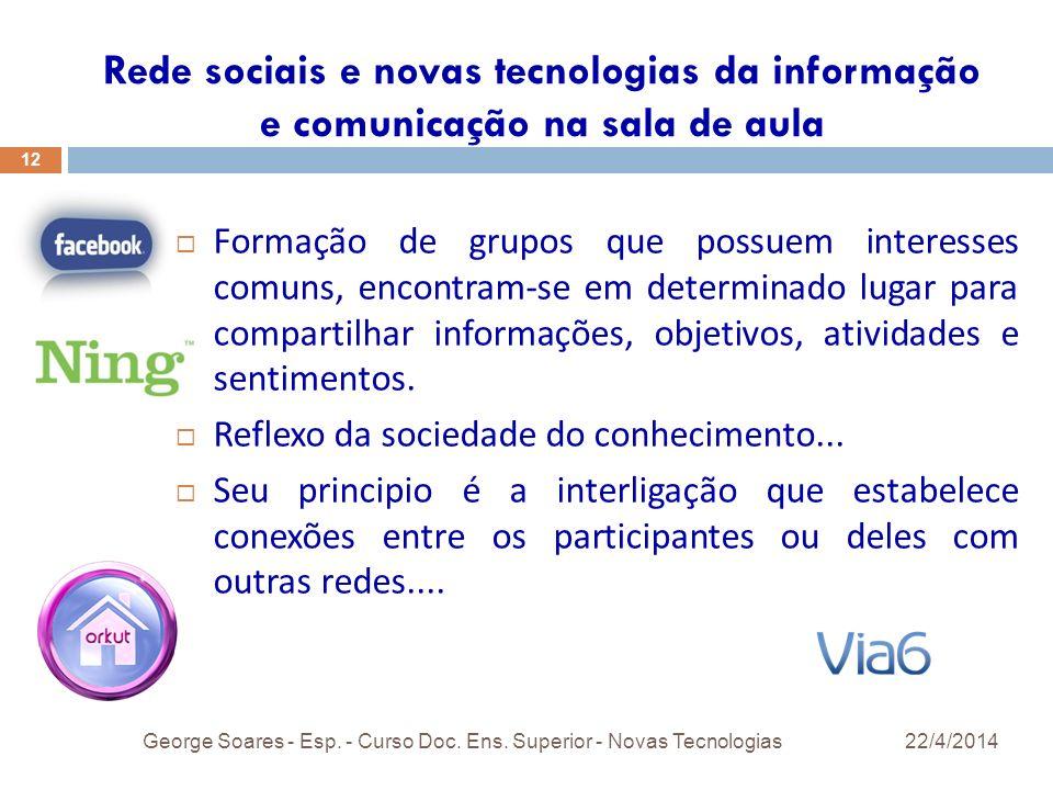 Rede sociais e novas tecnologias da informação e comunicação na sala de aula
