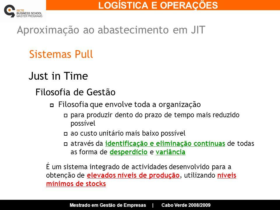 Aproximação ao abastecimento em JIT
