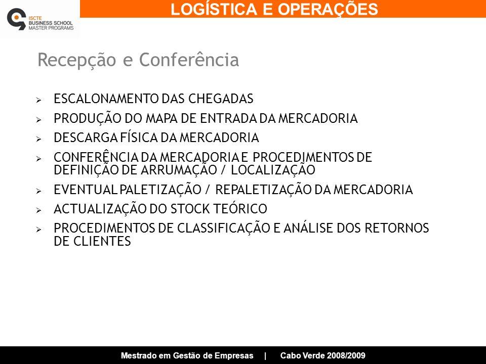 Recepção e Conferência